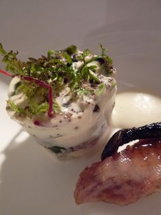 eel and samphire panna cotta with glazed fresh eel