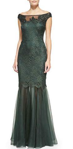 Deep green mother-of-the-bride dress