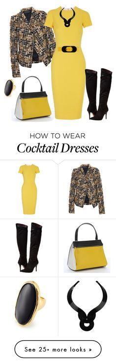 """""""outfit 2650"""" by natalyag on Polyvore featuring Haider Ackermann, CÉLINE, Victoria Beckham, Report, Lara Bohinc, Michael Kors and Kenneth Jay Lane"""