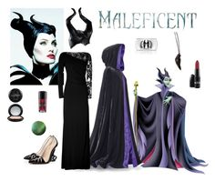 """""""Maleficent"""" by tizzy-potts ❤ liked on Polyvore featuring DOMINIQUE LUCAS, Emilio Pucci, Halloween, disney and malificent"""
