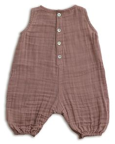 Numero 74 Baby Combi One Piece Dusty Pink - Cotton Muslin Short Rompers - Great Baby Clothes