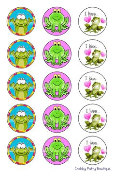 Froggie Bottle Cap Images 1 by rmlemay on Etsy, $1.75