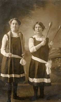 Edwardian young women with their Indian clubs