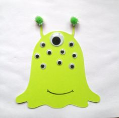 Paper alien craft kit for kids by mimiscraftshack on Etsy, $1.25