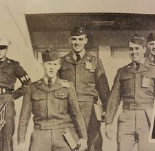 Elvis [top center] Fort Hood, TX, 1958. This picture is included in the 1958 Fort Hood, Texas yearbook which features at least two photos of new recruit Elvis Presley.
