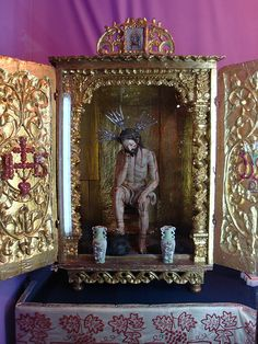 SEÑOR DE LA PACIENCIA,  altar colonial portatil.