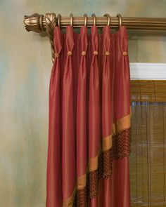 picture window curtain ideas basement pleated cascade with beaded trim and button detail over drapery panel dressmaker details drapes and 528 best window treatments images on pinterest in 2018