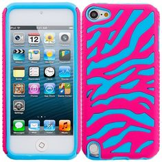 For apple ipod touch gen hybrid zebra hard soft case cover blue pink Summer Iphone Cases, Iphone Cases Bling, Ipod 5 Cases, Iphone Cases For Girls, Ipod Touch 6 Cases, Iphone Cases Disney, Iphone Cases Cute, Iphone Wallet Case, Cute Cases