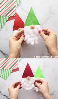 Christmas Projects For Kids, Christmas Decorations For Kids, Preschool Christmas, Diy Christmas Cards, Holiday Crafts, Christmas Christmas, Christmas Card Making, Christmas Ideas, Toddler Crafts