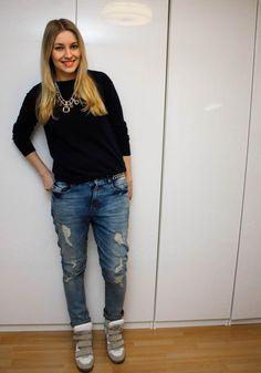 Ripped skinny boyfriend jeans - Lilou's Crush / Lily.fi