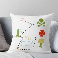 Peter Pan Map Throw Pillow