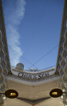 Zip-line high above Oasis of the Seas.