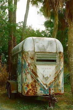 Horse trailer shabby chic!