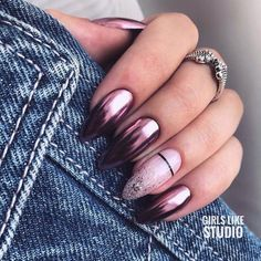 Get motivated by among the 12 most beautiful nail designs in this report if you are tired of the French manicure. Cute Acrylic Nails, Cute Nails, Pretty Nails, Short Nail Designs, Acrylic Nail Designs, Hair And Nails, My Nails, Hard Gel Nails, Instagram Nails