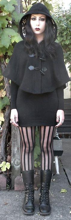 tumblr buffalo-bones: Love the stockings, boots and caplet