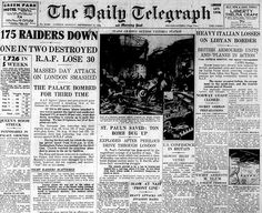 The front page of The Daily Telegraph for the following day, September 16, 1940, depicts the damage at Victoria Station. If you read the other headlines on the front page of this paper, you would think that Britain had the Axis on the ropes, which of course, was far from the truth. Image via The Telegraph