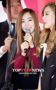 티파니(스테파니 황, Tiffany) - [HD포토] 소녀시대 태티서 티파니, '축하멘트로 애교 넘치게' (아이폰6론칭) - HD Photo News - TopStarNews.Net