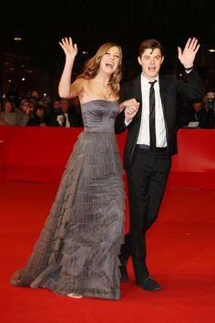 Sam Riley and Alexandra Marie Lara waving hello to you!!! Lol this is really cute