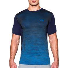 Activewear Tops Dedicated Under Armour Mens Xl Heatgear® Compression Ss Shirt Lightning Geometric Blue Activewear