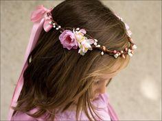 Couronne enfant fleurs & baies: Namie