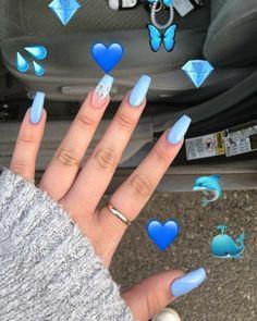 Xbh glitter rhinestones charm nail art decor accessories : Nail Designs With Rhi. Xbh glitter rhinestones charm nail art decor accessories : Nail Designs With Rhi. Acrylic Nails Coffin Short, Blue Acrylic Nails, Coffin Nails, Matte Nails, Black Nails, Acrylic Art, Nail Art Blue, Nails Rose, Pink Nail