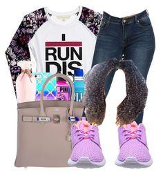 """I Run Dis City"" by chynaloggins ❤ liked on Polyvore featuring Nicki Minaj, Casetify, Victoria's Secret, Hermès, NIKE, women's clothing, women's fashion, women, female and woman"