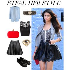 """""""STEAL HER STYLE SELENA GOMEZ"""" by milliemunchi on Polyvore"""
