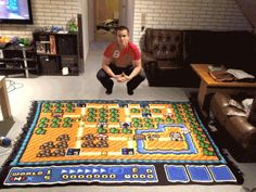 Crocheted Super Mario Bros. 3 Map Took Six Years To Make