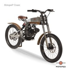 Wife won't let you get a bike? Here's the solution! Motoped Cruzer.