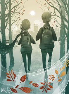 Pinzellades al món: Diumende de tardor: anem d'excursió / Domingo de otoño: vamos de excursión / Autumn Sunday: we hike