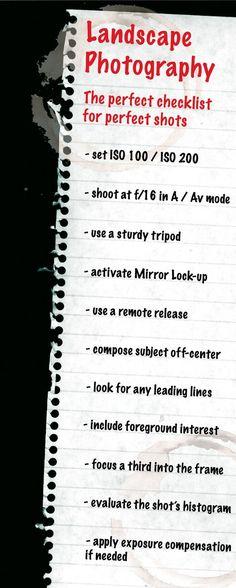 Landacape Checklist