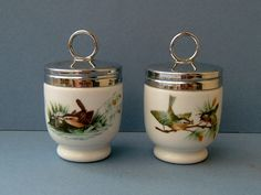 Two Vintage 1950s Royal Worcester Egg by QueensParkVintage on Etsy, $45.00