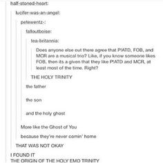 I laughed for a good fifteen seconds at the Ghost one cuz mcr... but idk why... I'm gonna cry now