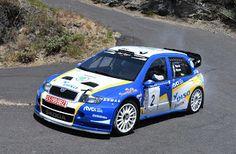 TIEMPO DE DEPORTE: A. Viera-V. Pérez (SKODA Fabia WRC) a por la victo...