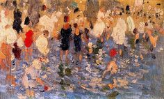 Cecilio Pla y Gallardo Spanish Painter On the Beach Spanish Painters, Spanish Artists, Oil Pastel Art, Impressionist Artists, Pierre Auguste Renoir, Figure Painting, Contemporary Artists, Art History, Oil On Canvas