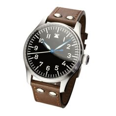 Stowa Flieger brown leather strap with rivets