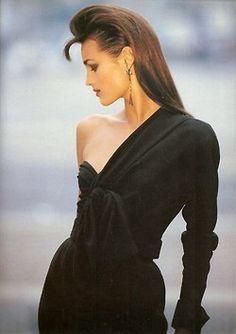 Vintage Azzedine Alaia? Anyway, gorgeous. And Yasmin LeBon, flawless (as always)