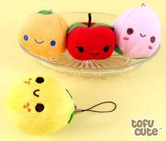Buy Kawaii Happy Fruits Plush Phone Charm at Tofu Cute
