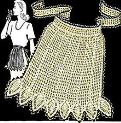 Pineapple Apron Vintage Crochet Pattern for download