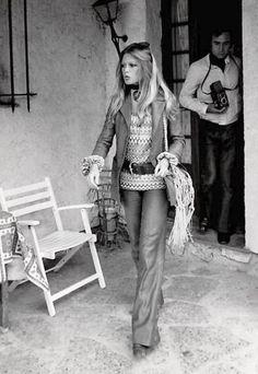 Brigitte Bardot in flares.