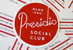 Presidio Social Club's business cards  #businesscard