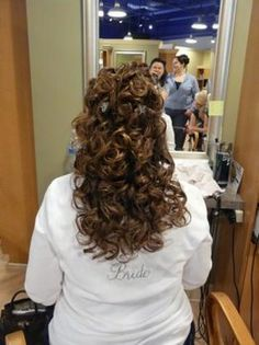 Wedding, Hair, Long, Curly, Half up, Half down