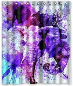 """Cool design Elephant Shower Curtain 60""""(w) x 72""""(h) Generic Shower Curtain Liners"""