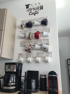 Pequeños espacios estación de café #nesspreso #cafe #creativos