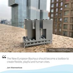 "The conversations have started! What does the #NewEuropeanBauhaus represent for you? Jorn Wemmenhove says ""The New European Bauhaus should become a toolbox to create flexible, playful and human cities"". What do you think? 👉🏼 Check the website 📣 Share your views #EUGreenDeal #EuropeForCulture #StrongerTogether #EU #HumanCities #conversation 📸 Building with toy bricks and portrait / ©️ Jorn Wemmenhove"