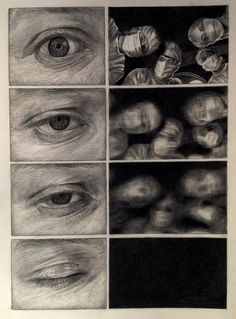 Great illustration of what a patient see under anesthesia! Art And Illustration, Art Sketches, Art Drawings, Arte Dark Souls, Bd Art, Gcse Art Sketchbook, Graphic Novel Art, Arte Obscura, Bd Comics