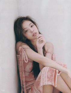 Scan of Marie Claire magazine with BLACKPINK Jennie