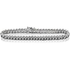 Women's 14K White Gold Finish 0.90CT Diamond S-Link Tennis Bracelet (7 Inches). 0.90 Total Carat Weight of Natural Mined White Diamonds with White Gold Finish Over Certified Brass. Size: 7 Inches (Av...