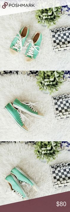 JUST CAVALLI green and cream sneakers Very good condition, only wear to the sole. Please let me know if you have any questions or you want to make an offer 💕💕💕 Just Cavalli Shoes Sneakers