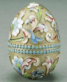 20c russian silver enamel egg 3 antip kuzmichev russian silver ...600 x 738 | 140.4KB | www.antiqforum.com